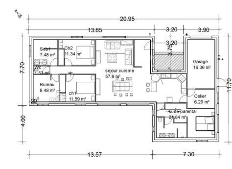 plan maison 6 chambres plain pied plan maison plain pied en u gratuit ventana