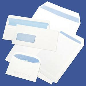 white     dl envelopes plain  window  seal