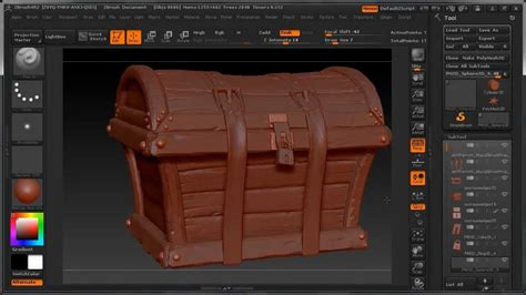 complete zbrush sculpting  treasure chest dm promo