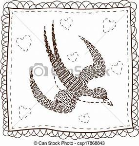 EPS Vector of Handkerchief with embroidery. - Isolated ...