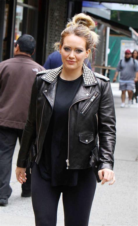 hilary duff  leather jacket  younger set   york