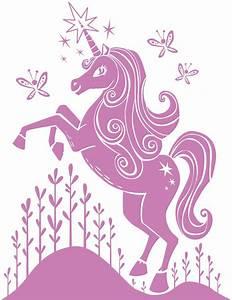 pink unicorn wall decal unicorns pinterest With unicorn wall decal
