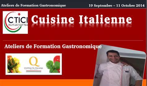 formation cuisine tunisie tunisie atelier de gastronomie italienne directinfo