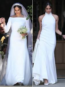 comparing meghan markle39s first and second wedding dresses With meghan markle wedding dress