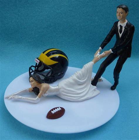 wedding cake topper university  michigan wolverines um