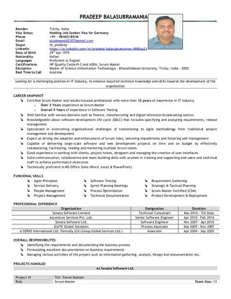 Scrum Master Resume Indeed by Scrum Master Resume Haadyaooverbayresort