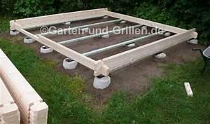 Gartenhaus Ohne Fundament : gartenhaus bausatz auf punktfundament selbstgemacht ~ Orissabook.com Haus und Dekorationen