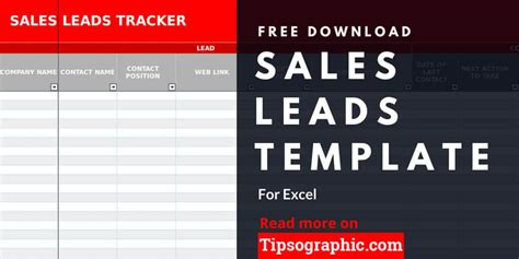 sales lead template  excel   tipsographic