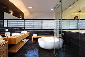 interieur maison en bois moderne mzaolcom With interieur salle de bain moderne