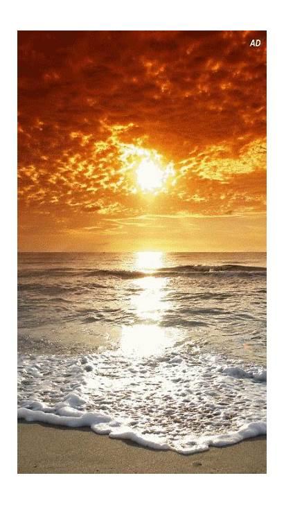 Sunset Beaches Seashore Oversized Nature Gifs Amazing