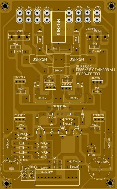 Big Socl Amplifier Skema Power Circuit Diagram