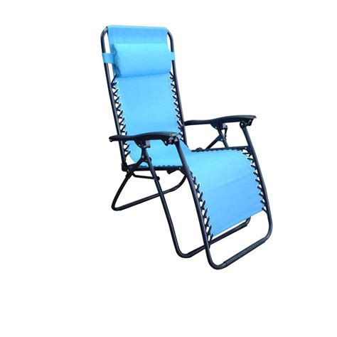 shop garden treasures blue folding patio zero gravity