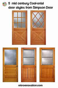 Colonial style front doors for mid century houses - Five