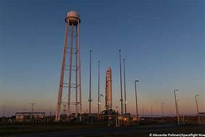 Photos: Antares rocket stands atop Virginia launch pad ...