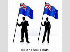 Flag of new zeland with old texture vector illustration