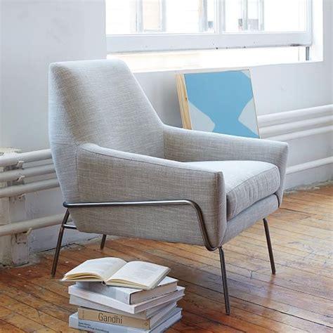 lucas wire base chair linen weave platinum west elm
