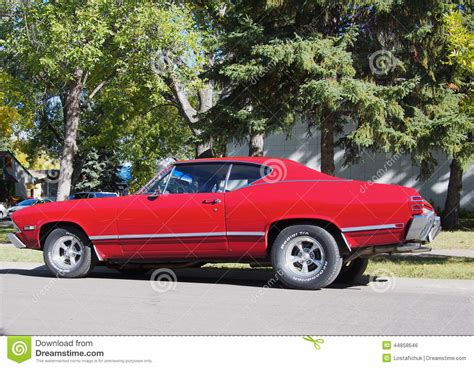 Classic Restored Red Chevrolet Beaumont Editorial Photo