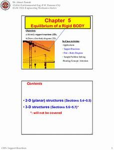 Engineering Mechanics Free Body Diagrams And Equilibrium