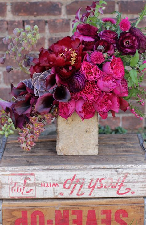 Flowers By Sachi Rose Vintage Wood Crates Birch Bark
