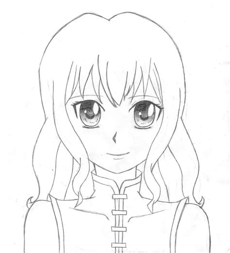 anime template anime outline coloring pages