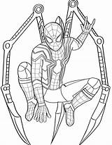Coloring Pages Spiderman Spider Iron sketch template