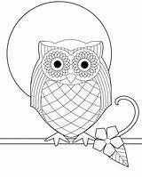 Owl Coloring Printable Owls Colouring Sheets Sheet Colour Children Finished Adults Drawing Zentangle sketch template