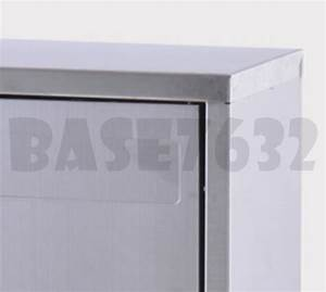 large stainless steel letter letters mail pos box With large stainless steel letters