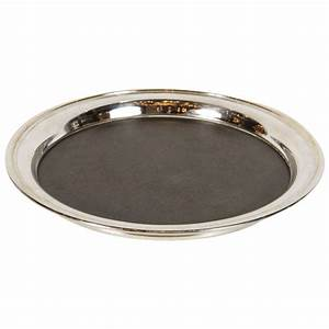Mid Century Modern Round Serving Or Bar Tray By Crescent