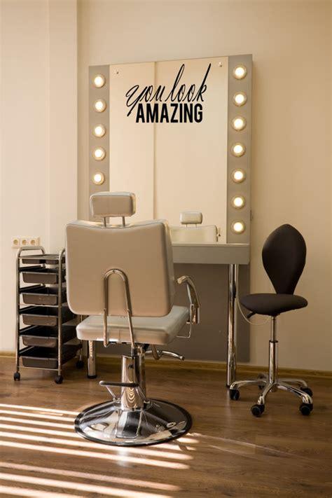 you look amazing salon mirror decal beautician vinyl