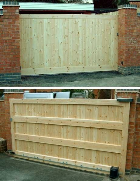 diy sliding wood fence gate woodworking projects plans