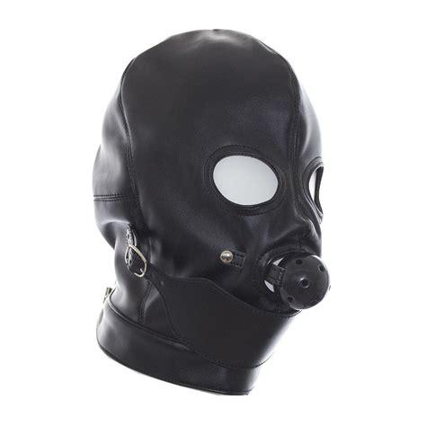 Fashion Gimp Full Mask Hood Open Eyes Mouth Ball Gag