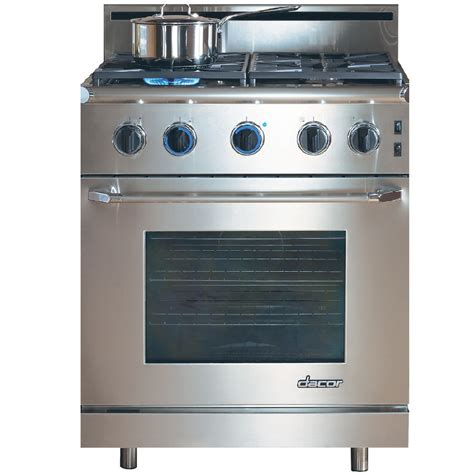 shop dacor renaissance 4 15 cu ft slide in convection gas range stainless steel with chrome