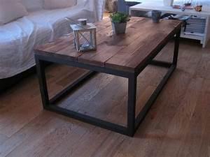 Table De Salon Industrielle : table basse industrielle en bois massif m taux tables et salons ~ Teatrodelosmanantiales.com Idées de Décoration