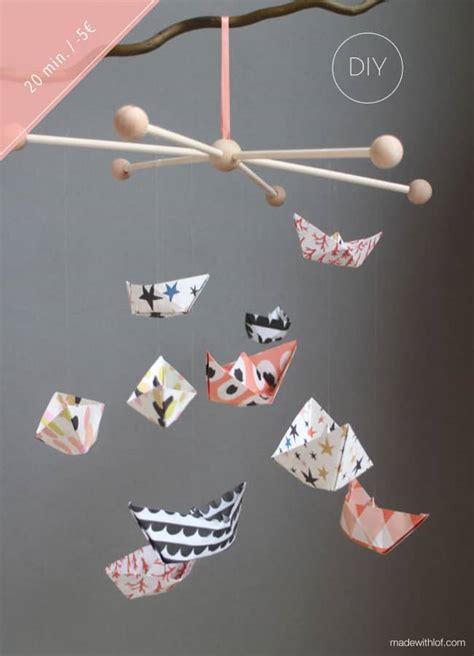 Origami Boat Mobile by Diy Paper Boat Mobile