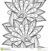 Coloring Corner Decorative Flowers Template sketch template