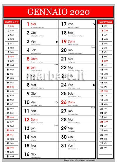 calendario santi del giorno le lune da stampare