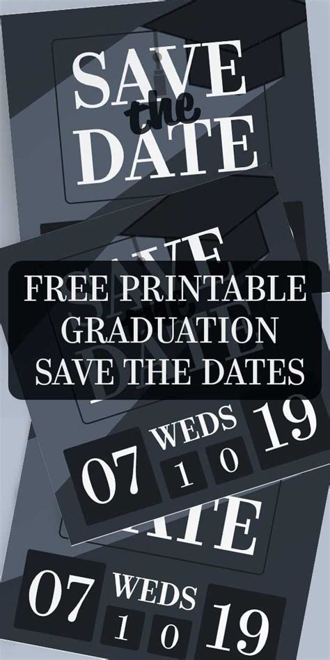graduation save  date invitations  printables