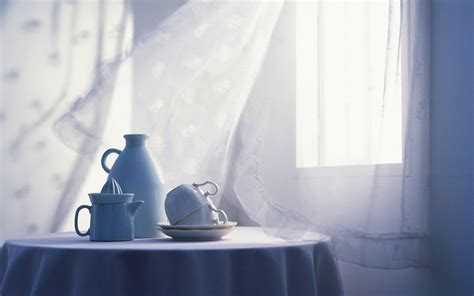 light shower curtain white window room table cups