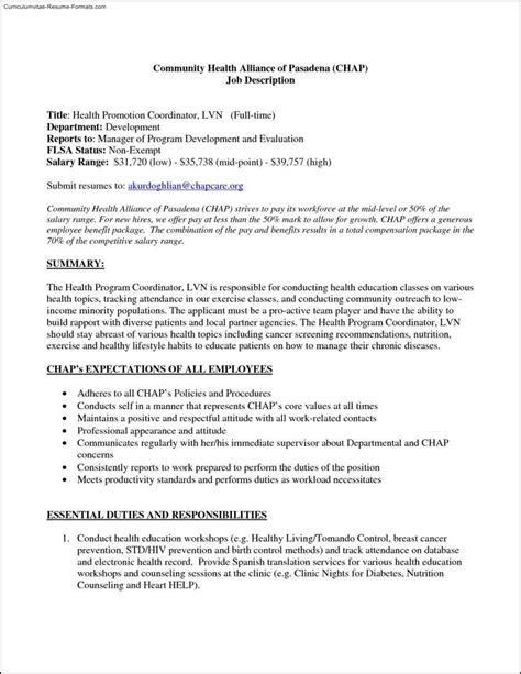 Lvn Resume Exles by Lvn Resume Template Free Sles Exles Format