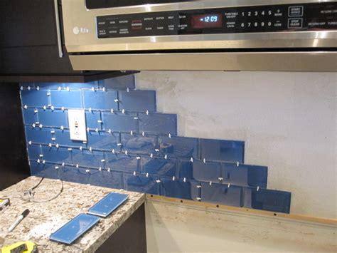 how to install glass mosaic tile backsplash in kitchen how to install a glass tile backsplash armchair builder