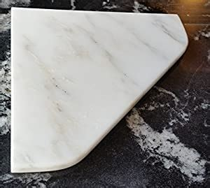 amazoncom  marble shower corner shelf carrara bianco
