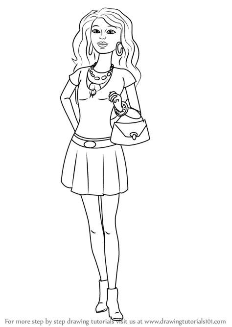 learn   draw nikki  barbie life   dreamhouse