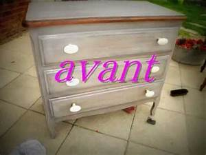 meubles relookes commode table patine ceruse teinte With ceruser un meuble fonce