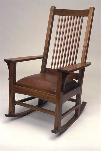 Craftsman Style Rocking Chair Antique L J G Mission Oak