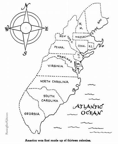 Thirteen Colonies Coloring Pages History Printable American
