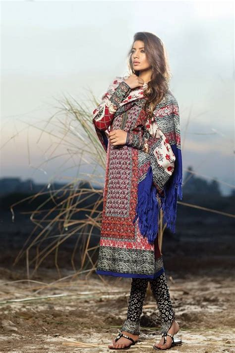 safinaz winter shawl dresses collection