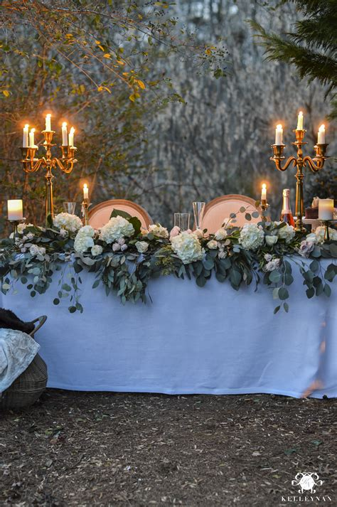 romantic outdoor sweetheart table kelley