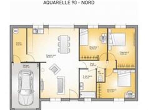 plan maison 90m2 3 chambres 1000 ideas about maison de plain pied on