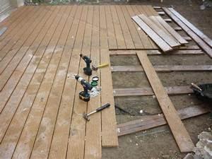 Pose De Lame De Terrasse : cr ation d 39 une terrasse en bois composite roquemaure ~ Edinachiropracticcenter.com Idées de Décoration