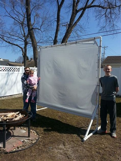 pvc outdoor  screen  diy  night ideas